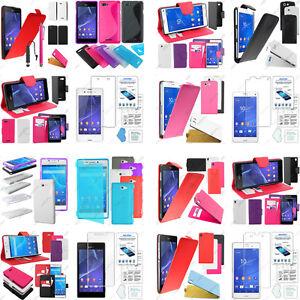 Accessoires-Etui-Coque-Housse-Pochette-Film-Sony-Xperia-C-E-M-Sp-Z-3-2-1-Compact