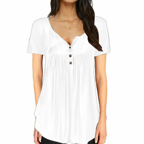 Women/'s Summer Short Sleeve Blouse T Shirt Tops Casual Loose Tunic Tee Plus Size