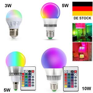 Fernbedienung 2x RGB 16 Farbwechsel 5W E27 LED Licht Beleuchtung Led Spot Lampe