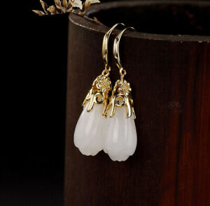H02-Earring-Silver-925-Gold-Plated-with-Bloom-from-White-Jade-Style-C