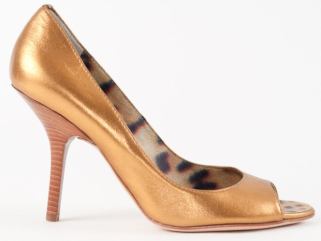 Zapatos de De Cuero nuevos De de Bronce Luz De Roberto Cavalli EE. UU. 7 3f5f4e