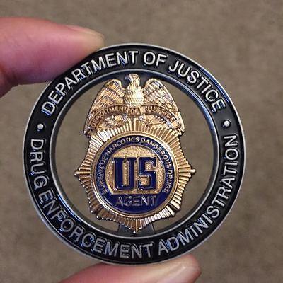 DEA Drug Enforcement Administration SANTA MUERTE Authentic Challenge Coin Narcos