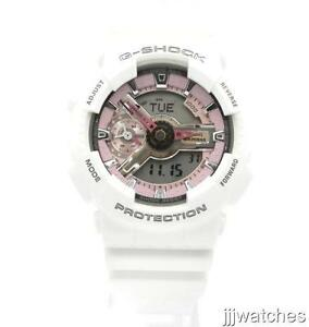 Casio G-shock Gmas110mp-7a Ladies Analog Digital White and Pink Watch GSHOCK cd704aae8b