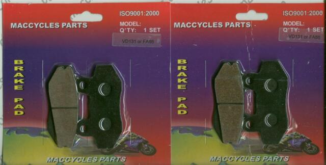 Hyosung Disc Brake Pads GT250 2004-2012 Front & Rear (2 sets)