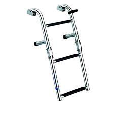 New 3-Step Stern/Transom Mounted Boat Boarding Ladder