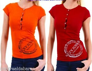 Maglietta-T-Shirt-Donna-SEXY-WOMAN-Made-in-Italy-A377-Tg-S-M