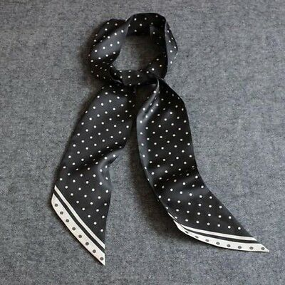 Great Gifts  Mens 100% Silk Mulberry Scarf/Cravat Black Dot Double Layer ●M404#