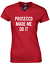 PROSECCO MADE ME DO IT LADIES T SHIRT FASHION ALCOHOL PARTY CHAMPAGNE WINE