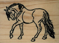 Mounted Rubber Stamps Show Horse Large Wood Mount 2 1/2 X 3 1/2