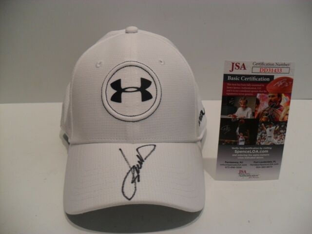 a1aeef04 Jordan Spieth Autographed Signed Under Armour Golf Hat JSA Certified COA JS  Logo
