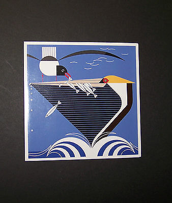 "Charles//Charley Harper Notecards /""Pelican Pantry/"" 4 Pack w//Envelopes"