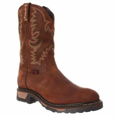 5670b057cae Tony Lama Men's Tan Cheyenne Waterproof TLX Round Steel Toe Work Boot  TW1019 | eBay