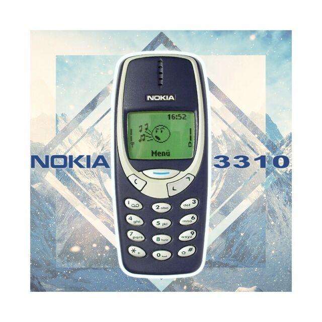 Phone Mobile Phone Nokia 3310 Blue Original Year 2000 Candy BAR Refurbished