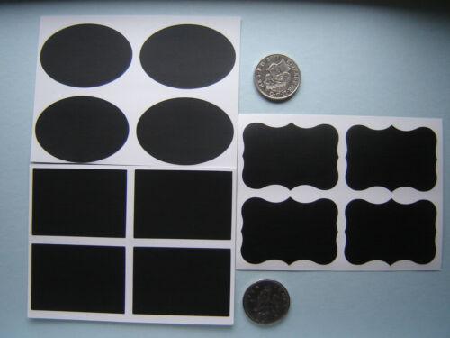 36 rétro vintage Blackboard Craft Autocollants Jar Jam Mariage Faveur Étiquette Chalk