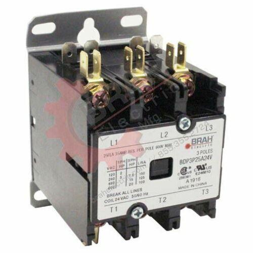 3PH 3P BRAH Electric aftermarket contactor BDP 40A 480V Coil BDP3P40A480V