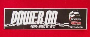 Sticker-Power-On-Lexmark-Indy-300-Gold-Coast-7cm-x-24cm