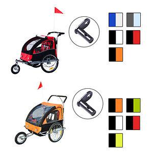 Kinderanhaenger-2-in-1-Kinder-Fahrradanhaenger-Radanhaenger-mit-ohne-360-Drehbar