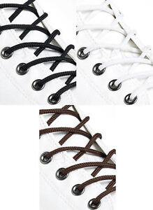 THIN-ROUND-BLACK-BROWN-WHITE-DRESS-SHOELACES-2mm-wide-4-LENGTHS-3-COLOURS