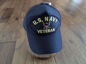 8eaebfea215 U.S MILITARY NAVY VETERAN HAT U.S MILITARY OFFICIAL BALL CAP U.S.A ...