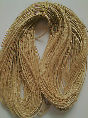 12m Luxury Soft Natural Jute String Rustic Twine Sisal Ribbon Shabby Chic Cord