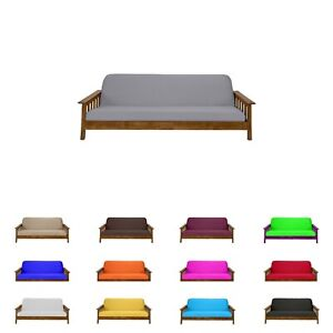 Solid Gray Full Size Futon Mattress Cover, Bed Protectors ...