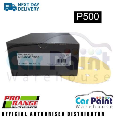 """6/"""" 100pk Pro Range P500 6+1 Hole H/&L DA Sanding Discs 150mm"""