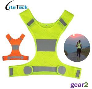 Hi Viz Reflective Running Cycling Vest Top High Visibility Mens Womens Children