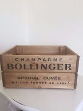 Vintage Style  Wooden Bollinger  Champagne Wine Crate Box Storage Shabby Chic