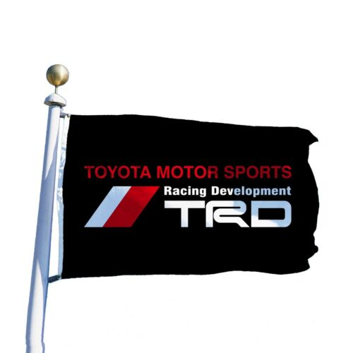 TRD Toyota Black Flag Banner 3x5 ft Racing Development Motor Sports Camry Prius