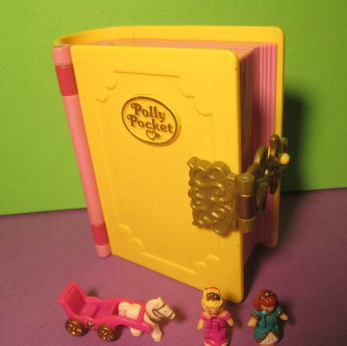 Polly Pocket Mini Buch ♥ Glitzer Palast ♥ Princess Palace ♥ 100% complete ♥1995