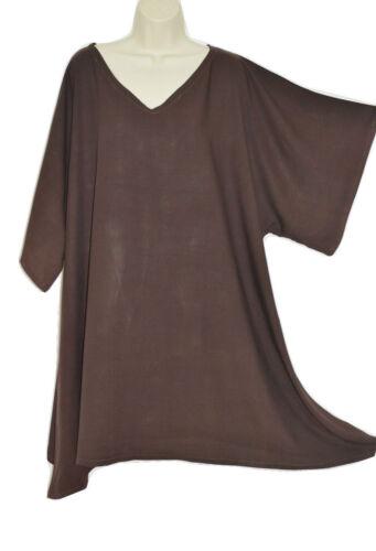 Einfarbiges Top Damen-bluse Sehr weich Breit ärmel Viskose Kaftan T-Shirt Poncho