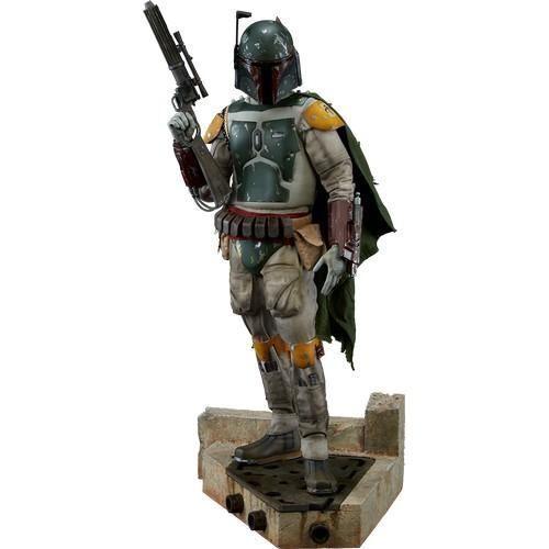1 4 Estrella Wars rojoj retorno de las Jedi Boba Fett Premium Format Sideshow Estatua