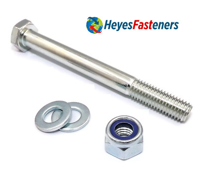 M16 x 180mm Long Bolt C//w Nyloc Nut /& Washer 8.8 HIGH TENSILE Any Quantity Avail
