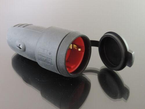 Schukokupplung Schuko kupplung IP44 16A  mit Deckel 230Volt  #201