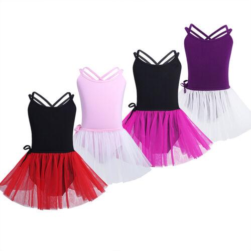 Ballett-Trikot Gymnastikanzug Turnanzug Ballet Set mit Röcke für Kinder Mädchen