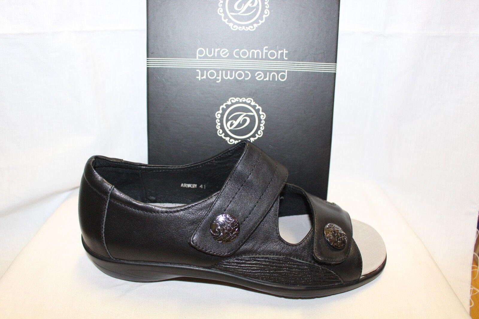 Damas Zapatos Calzado-Pure Comfort Comfort Calzado-Pure Zapato-arwon Negro e7f2f2