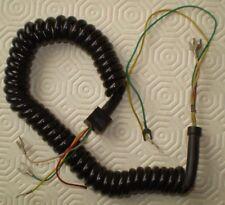 Hörerkabel /-schnur für alte Telefone,schwarz,gewendelt,mit Kabelschuhe (Bild)