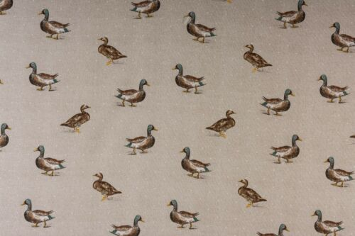 Fryetts Mallard Water Ducks Natural Cotton Curtain Upholstery Cushion Fabric