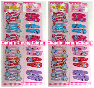 Lot 120X sofia princess hairpin card bb clip side-knotted clip little girl clip