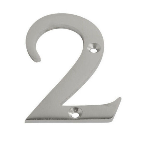 """76 mm /& Letters A-C 2.5//8/"""" Satin Chrome Numerals Door Numbers 0-9 3/"""" 65 mm"""