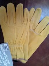 Men's Premium Cowhide Leather Driving/Work Gloves by Anchor, Yellow Med, NWT