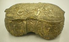 Vintage Brass Victorian Box Trinket Jewelry Detail Ornate Music Fields