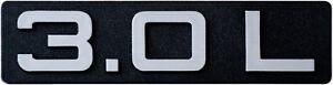 Auto-3D-Aufkleber-Relief-Schild-3-0-L-3-0-Liter-110-mm-HR-RICHTER-Art-14510