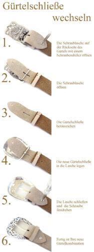 SET Buckle Gürtel Star Vintage Rockstar Ledergürtel Biker 4 cm Stern silber