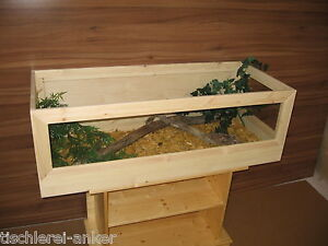 Schildkr 246 Ten Terrarium 100 50 40cm Aus Holz
