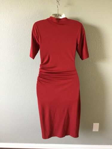 Stretch Neck 10 4 Ruched Womens Dress Size V Oliver Isabella Maternity Us wxqCnU0IpH