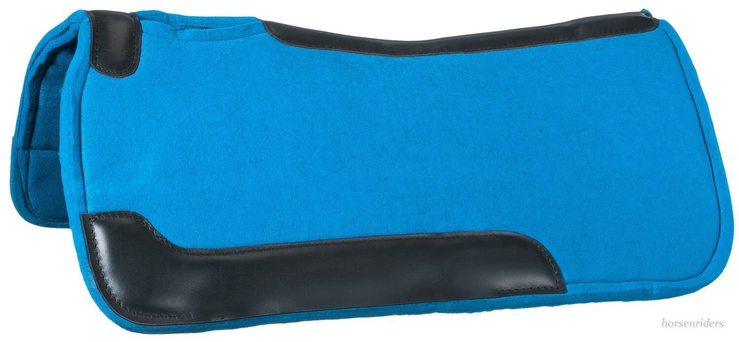 Western Felt Saddle Pad - Contour Fit - Turquoise - 32 Inch x 32 Inch