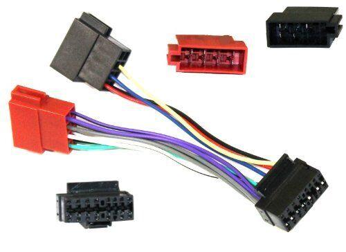 Adaptador con ISO cables enchufes para autoradio JVC