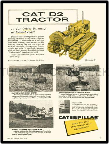 "1956 CATERPILLAR CAT D2 TRACTOR AD 9/"" x 12/"" ALUMINUM Sign"
