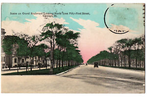 CPA-USA-Scene-on-Grand-Boulevard-034-Looking-North-034-from-51st-Street-Chicago